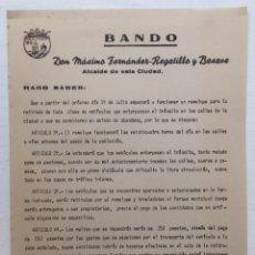 Documentos antiguos: INTERESANTE DOCUMENTO ALCALDE SANTANDER 1968 - APLICACIÓN GRUA RETIRADA VEHÍCULOS MULTAS SANCIONES. Lote 130334554
