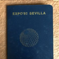 Documentos antiguos: PASAPORTE EXPO '92 DE SEVILLA. CON 28 SELLOS Y PEGATINAS DE LOS PABELLONES.. Lote 130521447