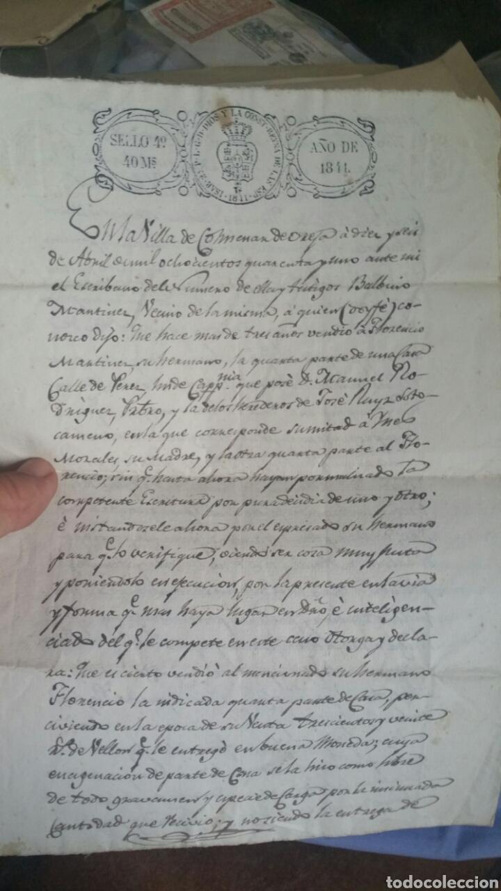 ESCRITURA DECLARACIÓN DE RENTA LOCALIDAD COLMENAR DE OREJA AÑO 1841 (Coleccionismo - Documentos - Otros documentos)