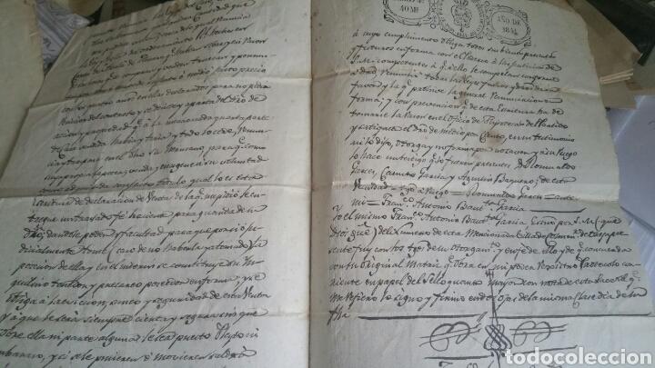 Documentos antiguos: Escritura declaración de renta localidad Colmenar de Oreja año 1841 - Foto 2 - 130535163