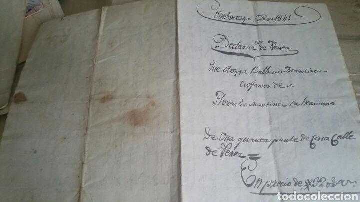 Documentos antiguos: Escritura declaración de renta localidad Colmenar de Oreja año 1841 - Foto 3 - 130535163