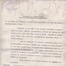 Documentos antiguos: CONTRATO COMPRA VENTA DE 1918 VENDRELL TARRAGONA. Lote 130550494