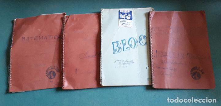 LOTE DE 4 LIBRETAS ESCOLARES, AÑOS 50 - 60 (Coleccionismo - Documentos - Otros documentos)