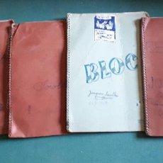 Documentos antiguos: LOTE DE 4 LIBRETAS ESCOLARES, AÑOS 50 - 60. Lote 130561730