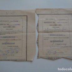 Documentos antiguos: VIGO. PONTEVEDRA. 1894. LOTE 2 CALIFICACIONES INSTITUTO PONTEVEDRA, DISTRITO UNIV. SANTIAGO.. Lote 130638250