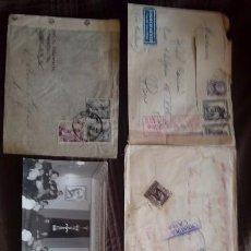Documentos antiguos: FOTO Y 5 SOBRES VACIOS DE CARTAS CENSURADAS FRANCO. Lote 131180300