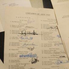 Documentos antiguos: COLEGIO MAYOR DIEGO DE COVARRUBIAS MADRID ARTE 65 CON FIRMAS DE AUTORES , HOMENAJE MANUEL ROA,. Lote 131610130