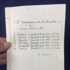 Documentos antiguos: EL PROGRAMA DE LAS DERECHAS RECORTES PRENSA 1932 ARTICULOS CESAR MORO GACETA R. COSIDOS 23X16CMS. Lote 131650038