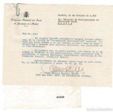Documentos antiguos: MADRID 1958 LIBROS.CARTA DEL DELEGADO FRENTE JUVENTUDES CARLOS BENITO GARCÍA.. Lote 131685078