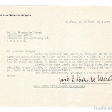 Documentos antiguos: MADRID 1957 CARTA ENVIADA AL EDITOR FERNANDO BAEZA POR EL CINEASTA JOSÉ LUIS SAÉNZ DE HEREDIA. . Lote 131694410