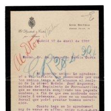 Documentos antiguos: CARTA DE LUIS SILVELA CASADO. DIPUTADO POR ALMERÍA. ALCALDE DE MADRID. MINISTRO DE GOBERNACION. Lote 131694850