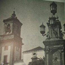 Documentos antiguos: ALGECIRAS CÁDIZ IGLESIA NUESTRA SEÑORA DE LA PALMA, LÁMINA AÑOS 40. Lote 131725190