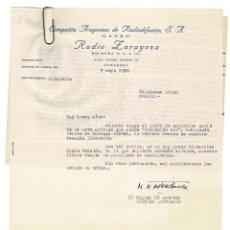 Documentos antiguos: ZARAGOZA 1958 CARTA ENVIADA A EDITOR BAEZA POR MIGUEL MARÍA ASTRAÍN BADA ESCRITOR Y CRÍTICO LITERARI. Lote 131785374