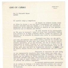 Documentos antiguos: MADRID 1962 COPIA DE CARTA ENVIADA A JULIO CARO BAROJA POR SU EDITOR BAEZA . Lote 131786838