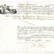 Documentos antiguos: BARCELONA 1855 COCOCIMIENTO DE EMBARQUE A LA HABANA. . Lote 132118474