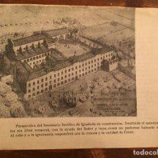 Documentos antiguos: ANTIGUO DOCUMENTO PROYECTO DE RECONSTRUCCIÓN DEL SEMINARIO SERÁFICO DE IGUALADA AÑOS 40 . Lote 132159586