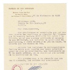 Documentos antiguos: PALMA DE MALLORCA 1958 PAPOELES DE SON ARMADANS CARTA ENVIADA POR GERENTE A EDITOR. . Lote 132161178