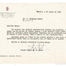 Documentos antiguos: MADRID 1956 CARTA ENVIADA POR GASPAR GÓMEZ DE LA SERNA A EDITOR BAEZA. . Lote 132223834