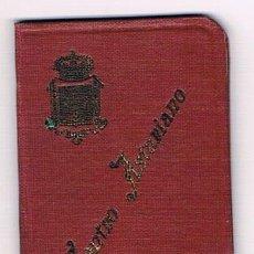Documentos antiguos: CARNET 1927 MADRID CENTRO ASTURIANO CON SELLOS - VIÑETAS 5 PTAS. MUY CURIOSO. Lote 132500458