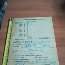 Documentos antiguos: ANTIGUO CONTRATO COMPRA VENTA AÑOS 60. Lote 132724270