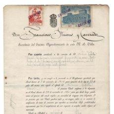 Documentos antiguos: MADRID 1927 AYUNTAMIENTO DE MADRID. NOMBRAMIENTO DE MACERO. SELLO FISCAL 10 PTAS.. Lote 132841570