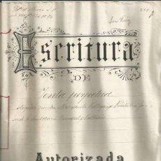 Documentos antiguos: DOCUMENTO ESCRITURA VENTA PERPETUA SINEU 1902 MALLORCA MANUSCRITO. Lote 132975970