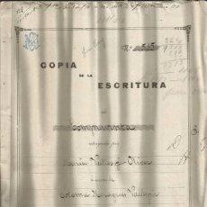 Documentos antiguos: DOCUMENTO ESCRITURA COMPRAVENTA COSTITX 1924 MALLORCA. Lote 132982590