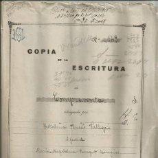 Documentos antiguos: DOCUMENTO ESCRITURA COMPRAVENTA COSTITX 1925 MANUSCRITO MALLORCA. Lote 133015634