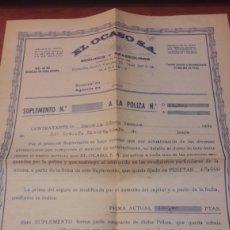 Documentos antiguos: CONTRATO SEGUROS OCASO 1975. Lote 133033911