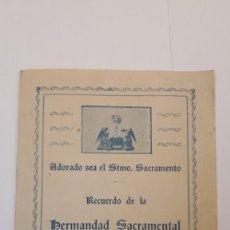Documentos antiguos: HERMANDAD DE SAN PABLO. 1938, 16º ANIVERSARIO FUNDACIÓN. . Lote 133036414