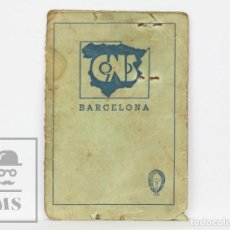 Documentos antiguos: ANTIGUO CARNET CENTRAL NACIONAL SINDICALISTA / CNS - SINDICATO SIDEROMETALÚRGICO, MECÁNICO, 1940. Lote 133096042