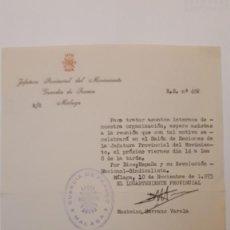 Documentos antiguos: DOCUMENTO GUARDIA FRANCO MÁLAGA, 10 NOV. 1975. Lote 133101882