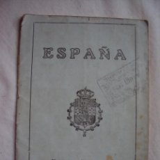 Documentos antiguos: PASAPORTE EPOCA ALFONSO XIII BARCELONA 1924. Lote 133247098