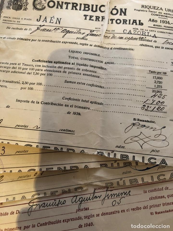 Documentos antiguos: Lote Contribución territorial riqueza urbana 1927-1942 - Foto 2 - 133399326