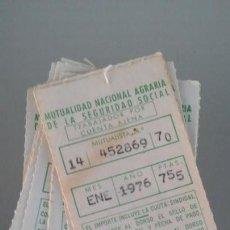 Documentos antiguos: MUTUALIDAD NACIONAL AGRARIA DE LA SEGURIDAD SOCIAL. Lote 133485722