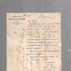 Documentos antiguos: CUBA. CHINO. CERTIFICADO DE DEFUNCIÓN POR EMBOLIA CEREBRAL. 1889. Lote 133516998