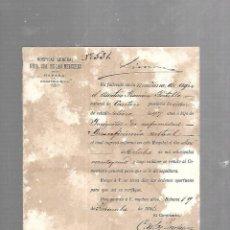 Documentos antiguos: CUBA. CHINO. CERTIFICADO DE DEFUNCIÓN INSUFICIENCIA MITRAL. 1891. Lote 133517102