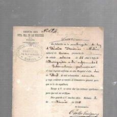 Documentos antiguos: CUBA. CHINO. CERTIFICADO DE DEFUNCIÓN TUBERCULOSIS PULMONAR. 1890. Lote 133517134