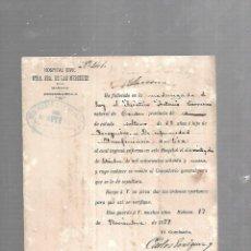 Documentos antiguos: CUBA. CHINO. CERTIFICADO DE DEFUNCIÓN INSUFICIENCIA AORTICA. 1889. Lote 133517258