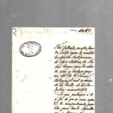 Documentos antiguos: CUBA. LA NACIONAL. CASA DE SALUD MODERNO. 1862. CERTIFICADO DEFUNCION DE ESCLAVO NEGRO. SLAVES. Lote 133527042