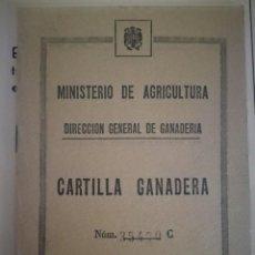 Documentos antiguos: CARTILLA GANADERA - . Lote 133575330