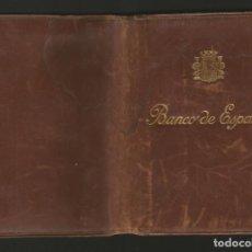 Documentos antiguos: CARTERA DE EMPLEADO DEL BANCO DE ESPAÑA CON DOCUMENTOS - REPÚBLICA 1935. Lote 133625874