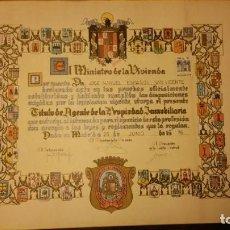 Documentos antiguos: TITULO DE AGENTE DE LA PROPIEDAD INMOBILIARIA DE 1976. Lote 133678014