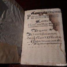 Documentos antiguos: CONTRATO DECENSO DEL CONCEJO DE BALBACIL DEL AÑO 1585 PARA LA ABADESA DEL CONVENTO DE BUENAFUENTE. Lote 134030546