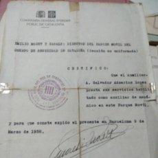 Documentos antiguos: REPUBLICA ,GUERRA CIVIL,COS SEGURETAT DE CATALUNYA . Lote 134055726
