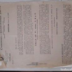 Documentos antiguos: 1927 ESCRITO CALDERERIA Y CONSTRUCCIONES SOLE S.A. Lote 134176530