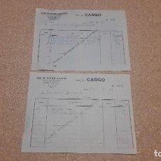 Documentos antiguos: DOS ANTIGUOS ALBARANES DE HIJOS DE SANTIAGO RODRÍGUEZ DE BURGOS...1971.. ... Lote 134283750