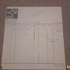 Documentos antiguos: ANTIGUA FACTURA DE TEJIDOS DOMINGO...DE BURGOS....1974... ... Lote 134284290