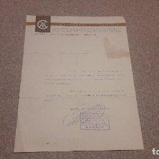 Documentos antiguos: ANTIGUA FACTURA...COMERCIAL VELO-MOTO....1965.... Lote 134301498