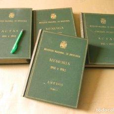 Documentos antiguos: INSTITUTO NACIONAL DE INDUSTRIA. ACTAS Y MEMORIAS. 1941 Y 1942. 4 TOMOS. IMPRESOS EN MULTICOPISTA.. Lote 134326570